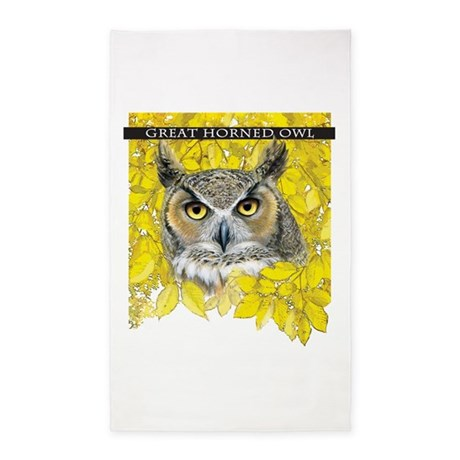 Great Horned Owl 3'x5' Area Rug