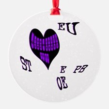 Heart steno Ornament