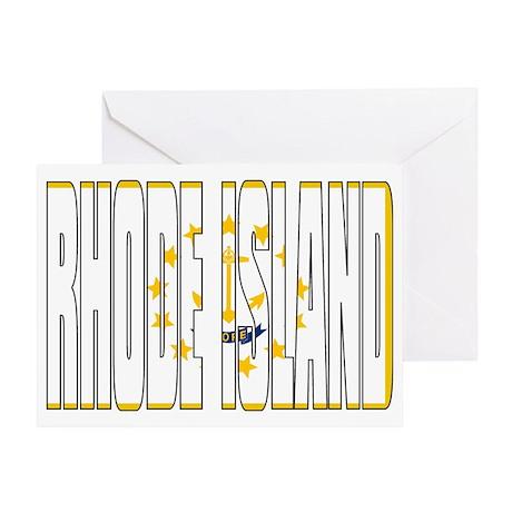 Rhode Island Flag Greeting Card