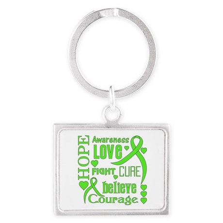 Lyme Disease Hope Words Landscape Keychain