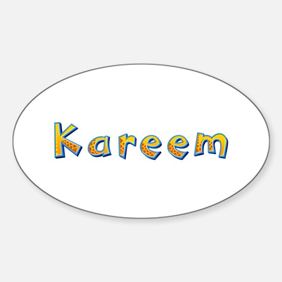Kareem Giraffe Oval Decal
