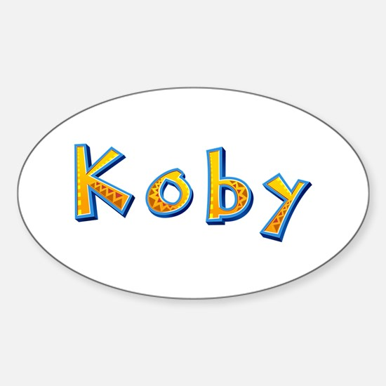 Koby Giraffe Oval Decal