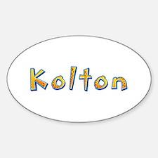 Kolton Giraffe Oval Decal