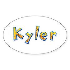 Kyler Giraffe Oval Decal