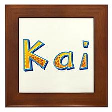 Kai Giraffe Framed Tile