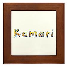 Kamari Giraffe Framed Tile