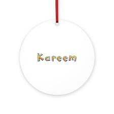 Kareem Giraffe Round Ornament
