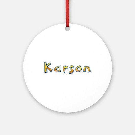 Karson Giraffe Round Ornament