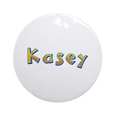 Kasey Giraffe Round Ornament