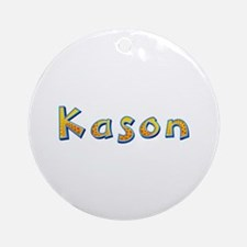 Kason Giraffe Round Ornament
