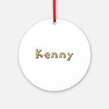 Kenny Giraffe Round Ornament