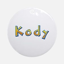Kody Giraffe Round Ornament