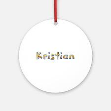 Kristian Giraffe Round Ornament