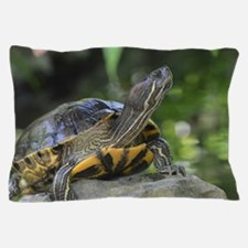 Turtle on a Rock Pillow Case