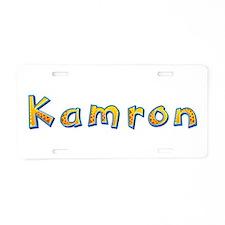 Kamron Giraffe Aluminum License Plate