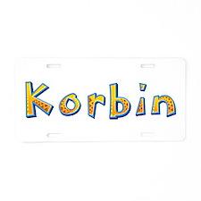 Korbin Giraffe Aluminum License Plate
