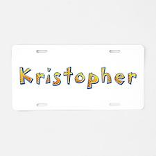 Kristopher Giraffe Aluminum License Plate