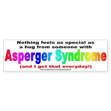 Asperger Hug Bumper Sticker