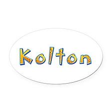 Kolton Giraffe Oval Car Magnet