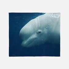 White Whale Throw Blanket