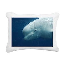 White Whale Rectangular Canvas Pillow