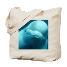 Cute Beluga Whale Tote Bag