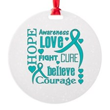 PCOS Hope Words Ornament