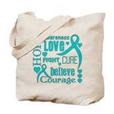 PCOS Hope Words Tote Bag
