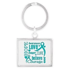 PCOS Hope Words Landscape Keychain
