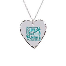 PKD Hope Words Necklace Heart Charm
