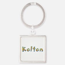 Kolton Giraffe Square Keychain