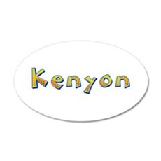 Kenyon Giraffe 20x12 Oval Wall Decal