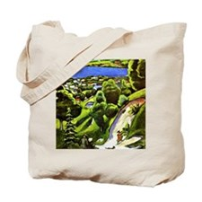 Tegernsee Landscape with Man Reading and  Tote Bag