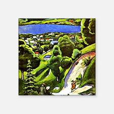 "Tegernsee Landscape with Ma Square Sticker 3"" x 3"""