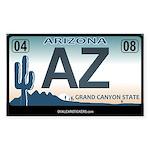 Arizona License Plate Sticker - AZ (Rectangular)