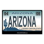 Airzona License Plate Rectangle Sticker