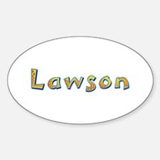 Lawson Giraffe Oval Decal