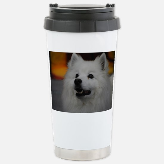 American Eskimo Dog Stainless Steel Travel Mug