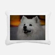 American Eskimo Dog Rectangular Canvas Pillow