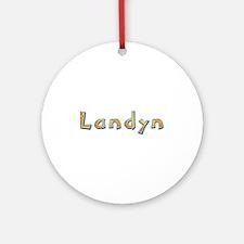 Landyn Giraffe Round Ornament