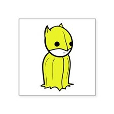 """The Yellow Knight Square St Square Sticker 3"""" X 3"""""""