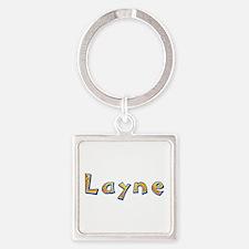 Layne Giraffe Square Keychain