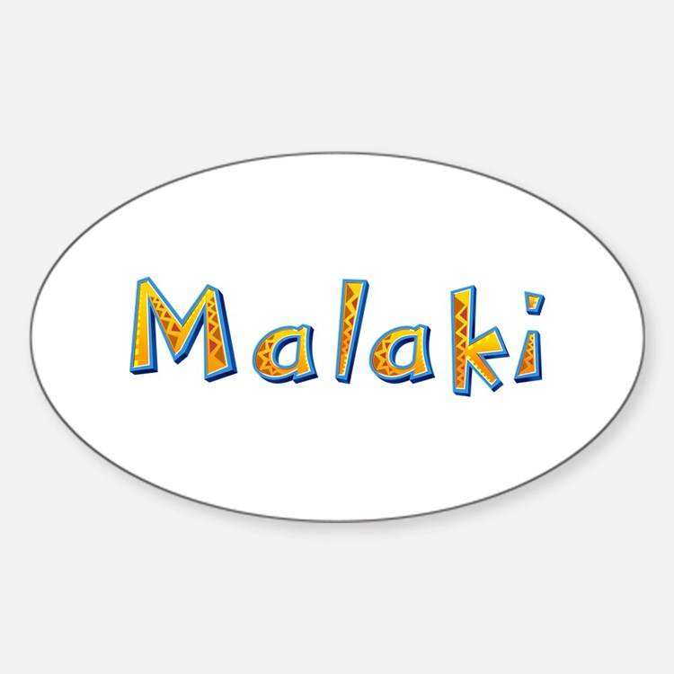 Malaki Giraffe Oval Decal