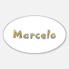 Marcelo Giraffe Oval Decal
