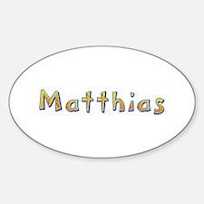 Matthias Giraffe Oval Decal