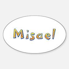 Misael Giraffe Oval Decal