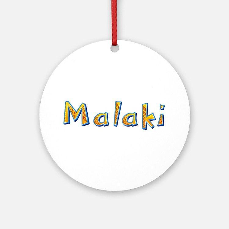 Malaki Giraffe Round Ornament