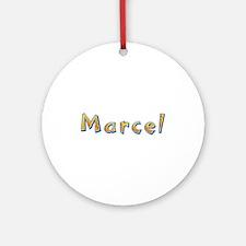Marcel Giraffe Round Ornament