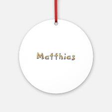 Matthias Giraffe Round Ornament