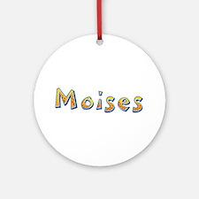Moises Giraffe Round Ornament